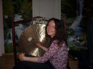 photo pour le facebook avec le gong